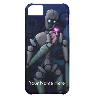 Amor del robot (personalice cualquier mensaje) funda para iPhone 5C