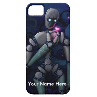Amor del robot (personalice cualquier mensaje) iPhone 5 carcasa