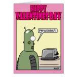 Amor del robot tarjeta de felicitación