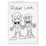Amor del robot tarjetas