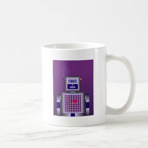 Amor del robot taza básica blanca