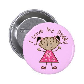 Amor del rosa I mi regalo del papá Pins
