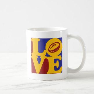 Amor del rugbi tazas de café