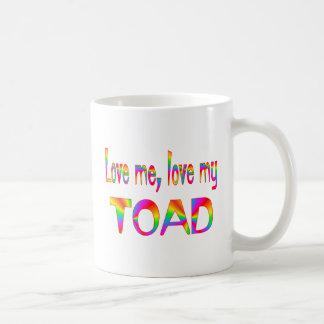 Amor del sapo tazas de café