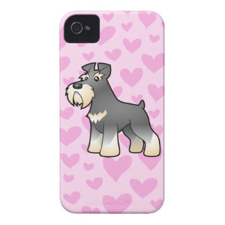 Amor del Schnauzer gigante/estándar/miniatura Case-Mate iPhone 4 Coberturas