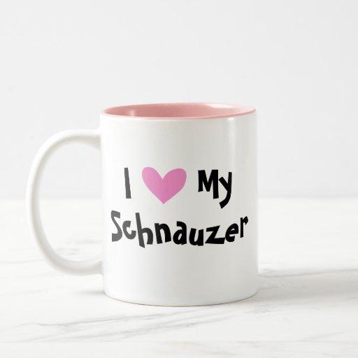 Amor del Schnauzer Taza De Café
