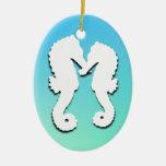 Amor del Seahorse, ornamento tropical de la foto Adorno Para Reyes