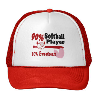 Amor del softball gorras de camionero