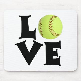 Amor del softball mousepad