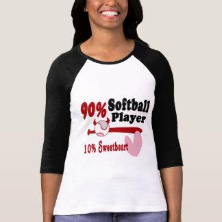 Amor del softball camiseta