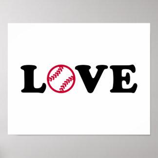 Amor del softball póster