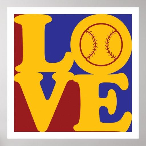 Amor del softball posters