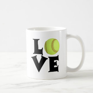 Amor del softball taza