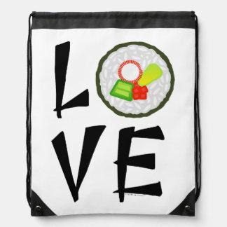 Amor del sushi mochilas