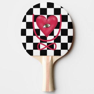 Amor del tablero de damas usted observa para pala de tenis de mesa