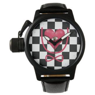 Amor del tablero de damas usted observa para relojes de mano