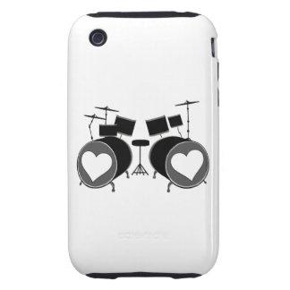 Amor del tambor iPhone 3 tough funda