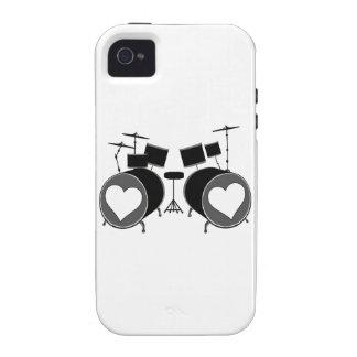 Amor del tambor iPhone 4 carcasas