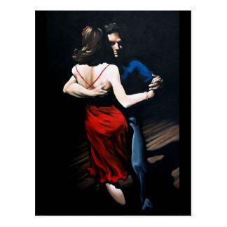 Amor del tango tarjeta postal