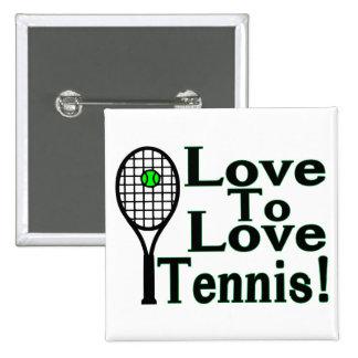 Amor del tenis al amor pin cuadrado