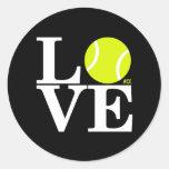 AMOR del tenis del as Etiquetas Redondas