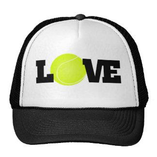 Amor del tenis gorro