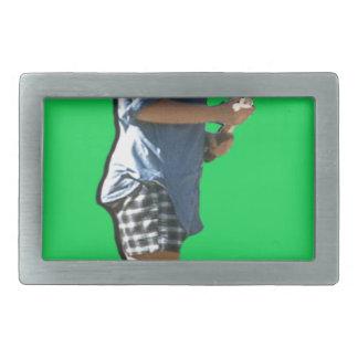 Amor del tenis hebillas cinturón rectangulares
