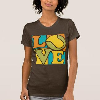 Amor del tenis camiseta