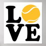Amor del tenis poster