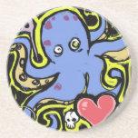 Amor del tentáculo y del cráneo posavasos manualidades