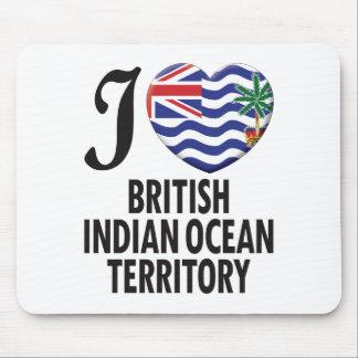 Amor del territorio del Océano Índico británico Alfombrillas De Ratones