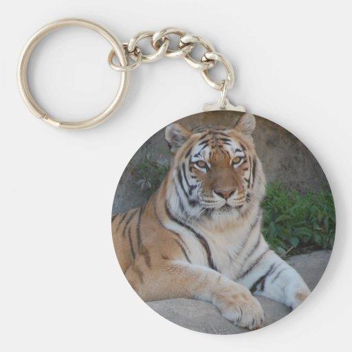 Amor del tigre llavero redondo tipo pin