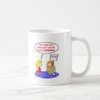 amor del tranquilizante de la condenación taza de café