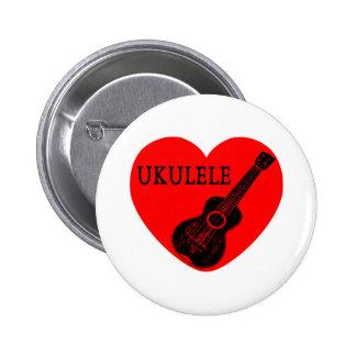 Amor del Ukulele Pin Redondo De 2 Pulgadas