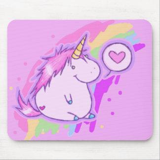 Amor del unicornio alfombrillas de ratón