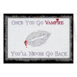 Amor del vampiro felicitación