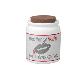 Amor del vampiro jarra para caramelo