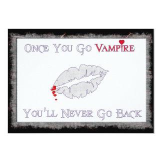 Amor del vampiro invitación 12,7 x 17,8 cm