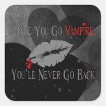 Amor del vampiro calcomania cuadradas personalizadas