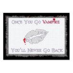 Amor del vampiro plantillas de tarjetas de visita