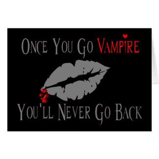 Amor del vampiro tarjeta de felicitación