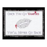 Amor del vampiro tarjeta postal