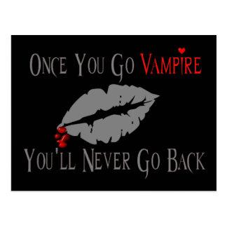 Amor del vampiro tarjetas postales