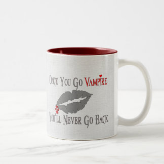 Amor del vampiro tazas de café