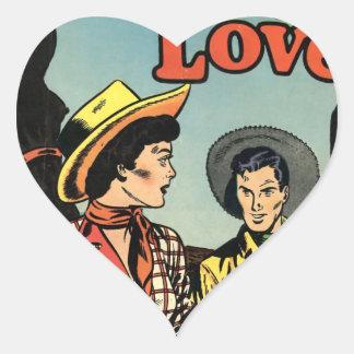 Amor del vaquero calcomania corazon personalizadas