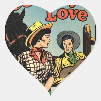 Amor del vaquero pegatinas corazon