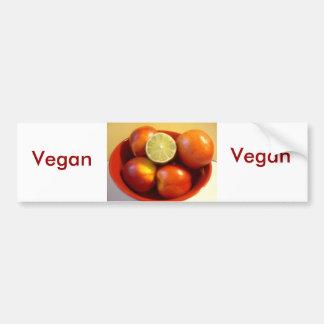 Amor del vegano etiqueta de parachoque