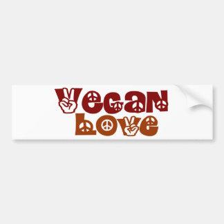 Amor del vegano pegatina de parachoque