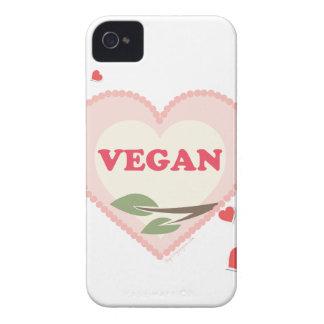 Amor del vegano Case-Mate iPhone 4 protectores