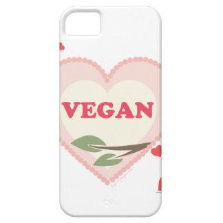Amor del vegano iPhone 5 fundas